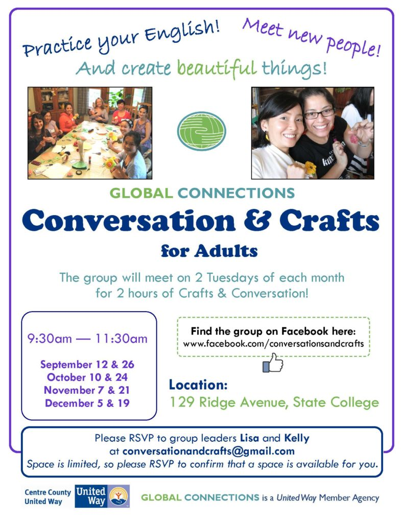 Convo & Crafts Flyer – Fall 2017