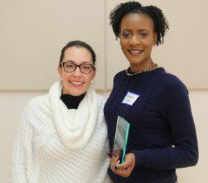 Claudia Prieto (left) and Ayona Riley (right)