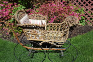 WICKER BABY BUGGY1