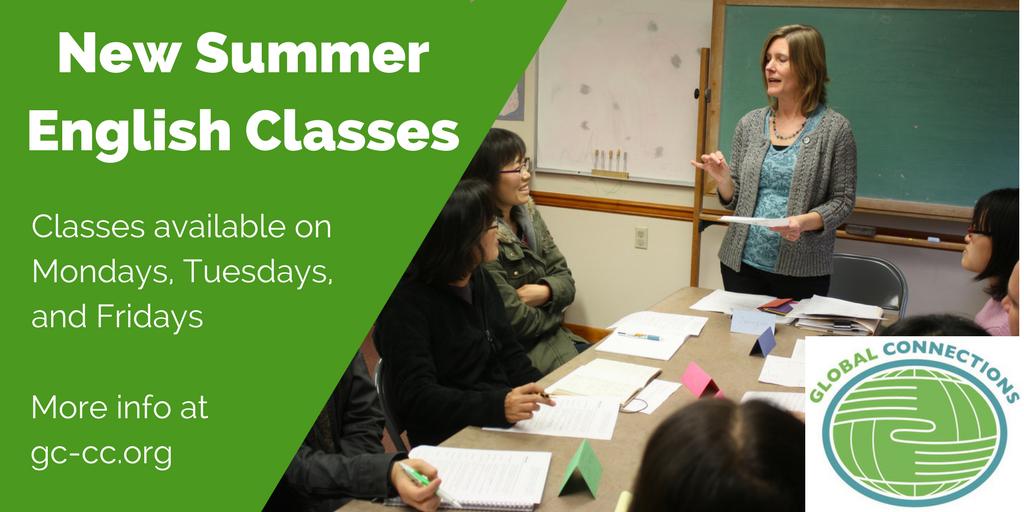 2018 Summer ESL classes